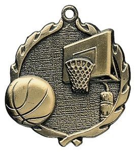 1.75 Sculptured Basketball Medal