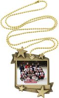 1.75x2.25 Hockey Starburst Generic Medal