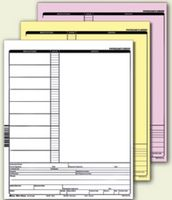"3-Parts Stock Carbonless Forms - 20# NCR (5 1/2""x8 1/2"")"