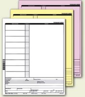 "2-Parts Stock Carbonless Forms - 20# NCR (5 1/2""x8 1/2"")"