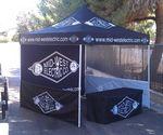 Custom 10x10 Vendor Tent - 1 Color Imprint / INCLUDES HEAVY DUTY LEG WEIGHTS / Lifetime Warranty