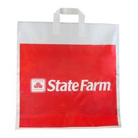 "Soft Loop Handle Plastic Bag (20""X20""X4"") 1.75 Mil"