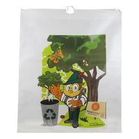 "Cotton Drawstring Plastic Bag (20""X20""X4"") 1.75 Mil"