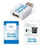 Custom USB Data Blocker White + Custom Packaging