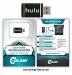Custom USB Quick Charging Data Blocker Black + Standard Packaging