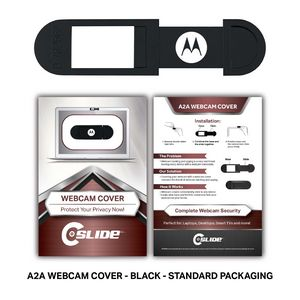 Webcam Cover A2A - Black + Custom Packaging