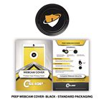Custom Peep Webcam Cover Black + Custom Packaging