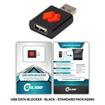 Custom USB Data Blocker Black + Custom Packaging