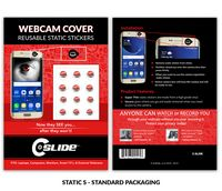 Static Sticker Webcam Cover with Standard Packaging