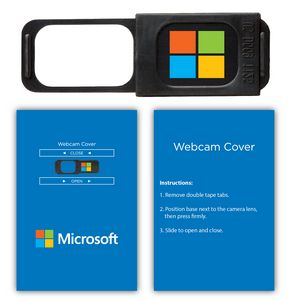 Webcam Cover 1.0 - Black + Custom Packaging