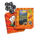 Custom Carton Box with Window with Five Dices Included