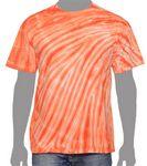 Custom Vat Zebra Tie-Dye T-Shirt (Orange)